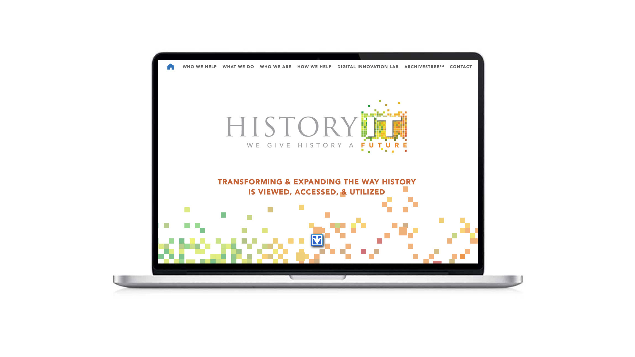 Website for a historical archiving company